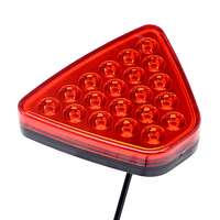 ITimo Triangel 20LEDs Universal Warning Light LED Flash Strobe Lamps Reversing Lamp Car Styling Red Tail