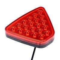 ITimo Triangel 20LEDs Universal Warning Light LED Flash Strobe Lamps Reversing Lamp Car Styling Red Tail