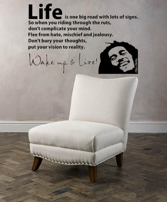 ̿̿̿(•̪ )56X40cm 3d Poster BOB MARLEY WAKE UP WALL DECAL VINYL ...
