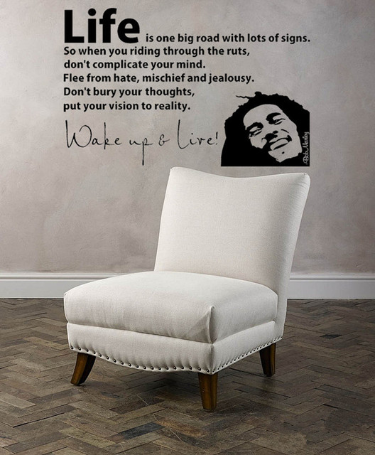 56X40cm 3d Poster BOB MARLEY WAKE UP WALL DECAL VINYL LETTERING Sticker  Quotes Motivation Music Vinyl Part 25
