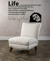 56X40cm 3d Poster BOB MARLEY WAKE UP WALL DECAL VINYL LETTERING Sticker Quotes Motivation Music Vinyl