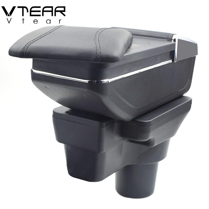 купить Vtear For Hyundai solaris 2 accent armrest box central Store content box cup holder ashtray interior car-styling 2017-2018 по цене 2273.16 рублей