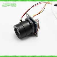 AHWVSE 2 teile/los HD 1200TVL Mini Analog Kamera Modul mit BNC Kabel und CS Objektiv 4mm 6mm 8mm 12mm 16mm