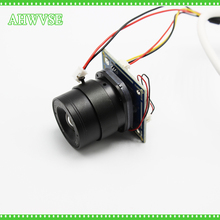 HKES 2pcs/lot HD 1200TVL Mini Analog Camera Module with BNC Cable and CS Lens 4mm 6mm 8mm 12mm 16mm