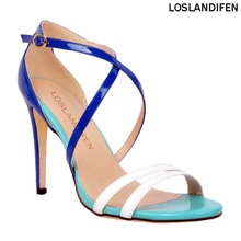 Womens Fashion Handmade Roman Style Cross Buckle Straps Open-toe High Heel Sandals XD057