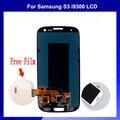 Envío libre módulo de la pantalla para samsung i9300 galaxy s3 lcd con pantalla táctil digitalizador asamblea
