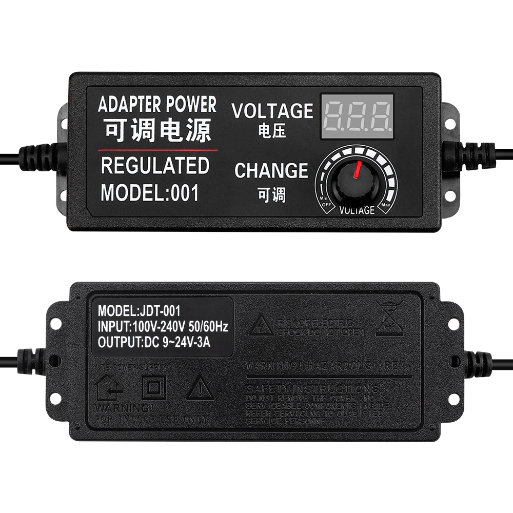 Réglable AC à DC 3-12 V 3-24 V 9-24 V tension régulée adaptateur EU//US Plug