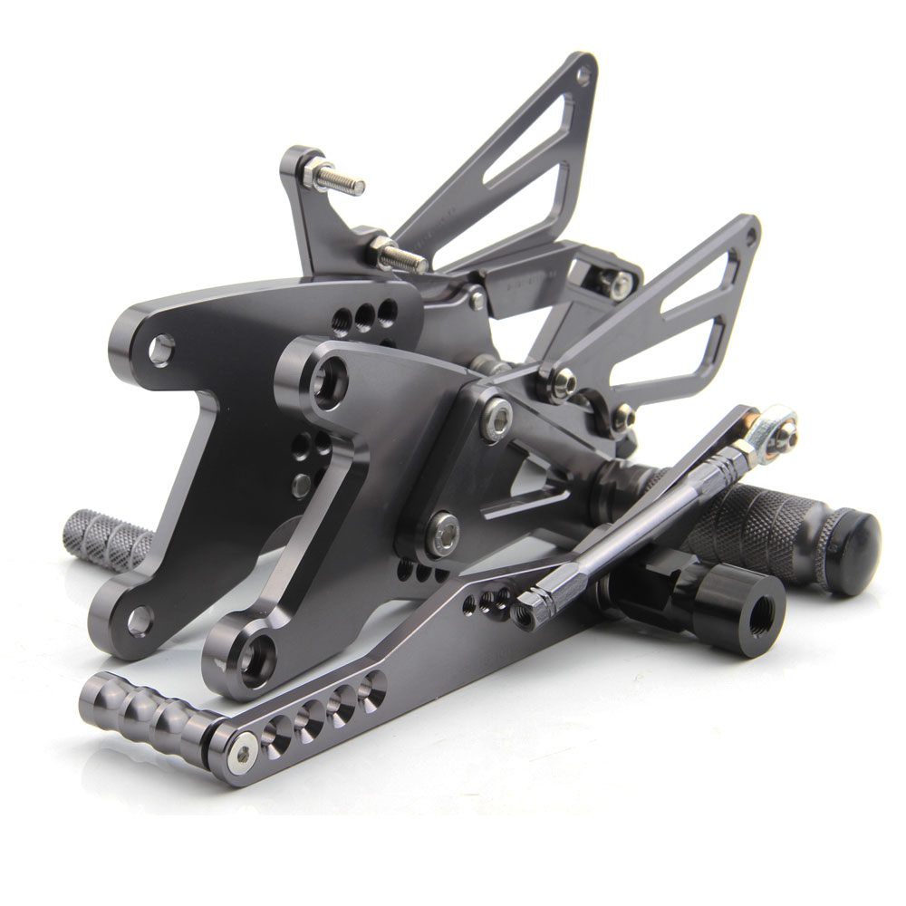 CNC Titanium Aluminum Adjustable Rearsets Foot Pegs For Yamaha YZF-R1 YZF R1 2015 2016 2017 2018