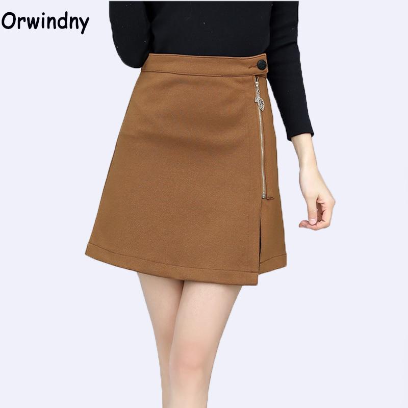 Orwindny New Fashion Women Skirts Office Lady High Waist Empire Pencil Skirt Step Office Formal Skirt
