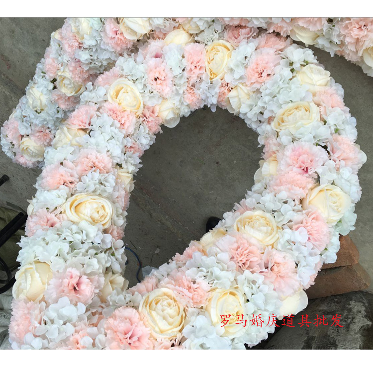 Artificial Decorations Nice Flower Wedding Long Table Centerpieces Decor Arch Door Lintel Flower Silk Rose Wedding Background Lawn/pillar Road Lead Flowers Aesthetic Appearance