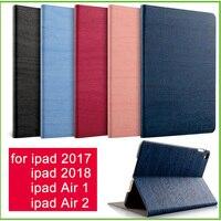 Для iPad Air 2 Air 1 чехол новый iPad 2017 2018 9,7 дюйма простота из искусственной кожи Smart Обложка Фолио автовключение чехол