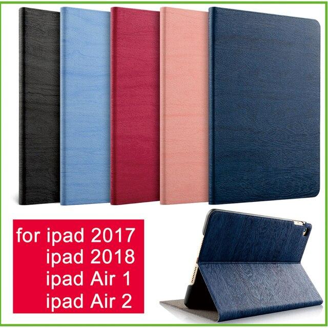 Cho iPad Không Khí 2 Không Khí 1 Trường Hợp New iPad 2017 2018 9.7 inch Đơn Giản PU Da Smart Cover Folio Trường Hợp tự động Wake Bìa Trường Hợp