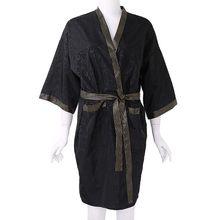 Client Gown Smock Hair Salon Kimono-Style Waterproof Spa Fashion Black 100x60cm