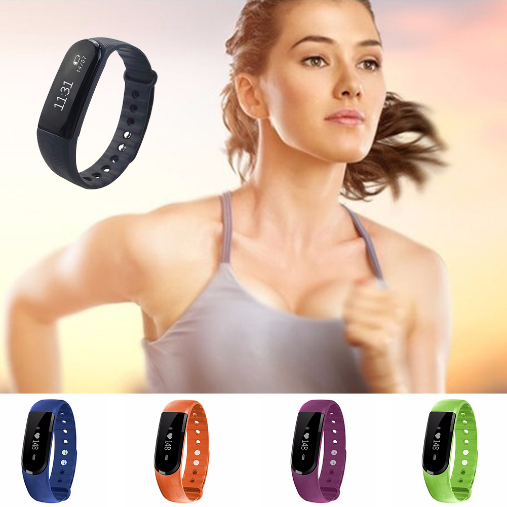 ID101HR Smart Wristband Band  Screen Call Reminder Music Camera Remote Control Bracelet Fitness Tracker Heart Rate Monitor