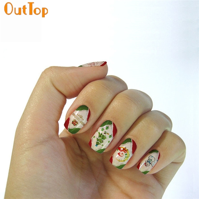 OutTop Love Beauty Female 1 Sheet Water Transfer Sticker Nail ...