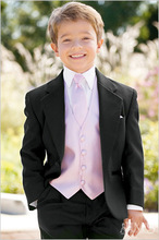 Top Sell Kids Tuxedos Handsome Primary Scholar Orchestic Clothing Boy Nomal Prom Suits (Jacket+Pants+Vest+Bow Tie) NO:088