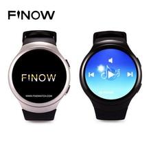 Finow K9 X3 3G Reloj Inteligente Android 4.4 Bluetooth WCDMA WiFi Tarjeta SIM SmartWatch Teléfono para iOS y Android Monitor Del Ritmo Cardíaco