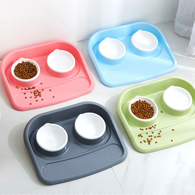 Anti-slip Non-toxic Mat With Two Bowls