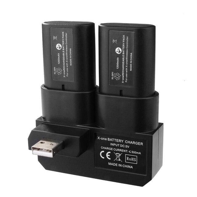 Двойной Аккумуляторная Батарея Комплект с Зарядным Док для Xbox One Gamepad BC575