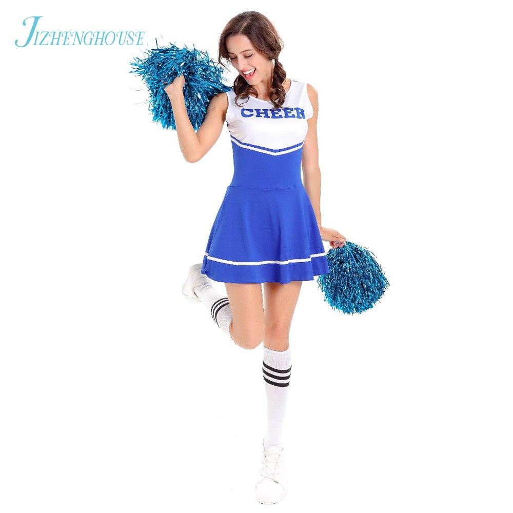 Jizhenghouse Halloween Costume Cheer Girl Dress Cosplay -5571