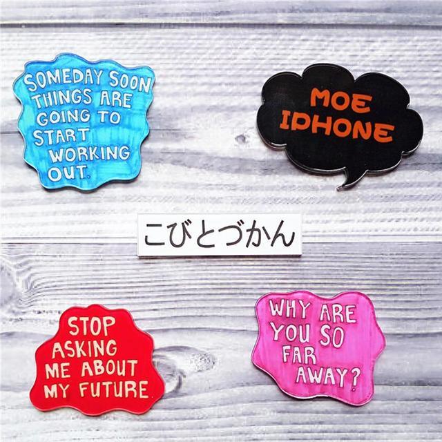 English Character Pins