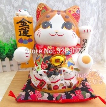 Japan style Plutus cat ceramic furnishing articles gifts to his new gifts piggy bank luck wealth longevity love health