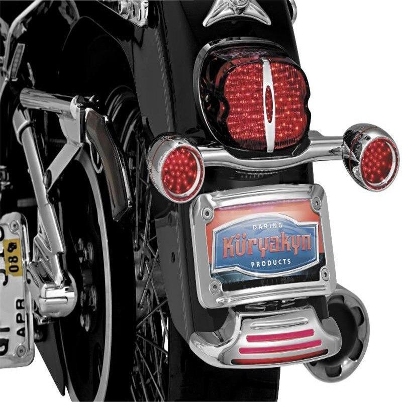 Chrom/Schwarz Aluminium Motorrad Nach Nummernschild Rahmen Halterung ...