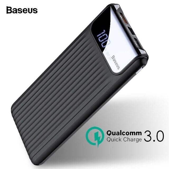Baseus Hızlı Şarj 3.0 10000 mAh Güç Bankası LCD 10000 mAh QC3.0 Hızlı güç Banka taşınabilir harici pil Şarj Xiao Için mi mi 9