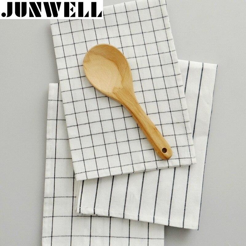 4pcs/lot 40x60cm 100% Cotton Yarn-dyed Check Stripe Dishtowel Kitchen Towel Cleaning Cloth Tea Towel Ultra durable pano de prato
