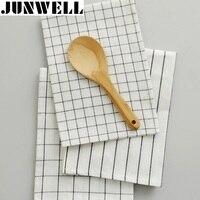 4pcs Lot 40x60cm 100 Cotton Yarn Dyed Check Stripe Dishtowel Kitchen Towel Cleaning Cloth Tea Towel