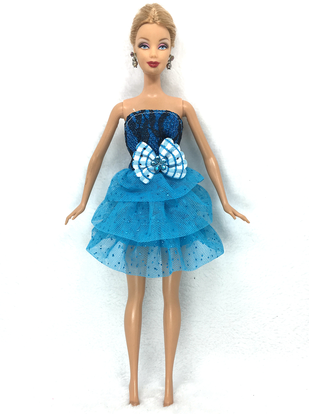 NK 2016 Latest Doll Gown Stunning Handmade Occasion ClothesTop Trend Gown For Barbie Noble Doll Finest Little one Ladies'Present 009A