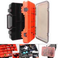 39x28x12 cm multifonction Double face épaissir Portable grand matériel de pêche boîtes pêche moulinet ligne leurre outil boîte de rangement