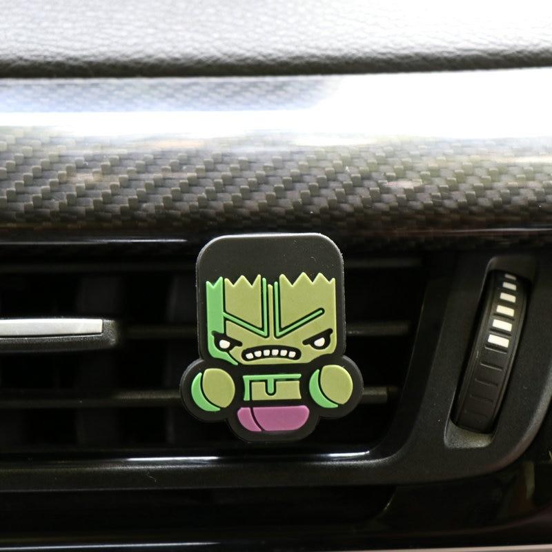 Освежитель воздуха с героями мультфильмов, автомобильный Стайлинг, духи, Мстители, Marvel, стиль для кондиционера, Вентиляционный Выход, Супермен, Бэтмен, модный, крутой - Название цвета: Hulk