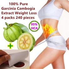 4 حزم 240 قرص نقي غاركينيا كامبوجيا استخراج فقدان الوزن فعالة حرق الدهون 95% HCA للنساء والرجال 100% التخسيس الفعال