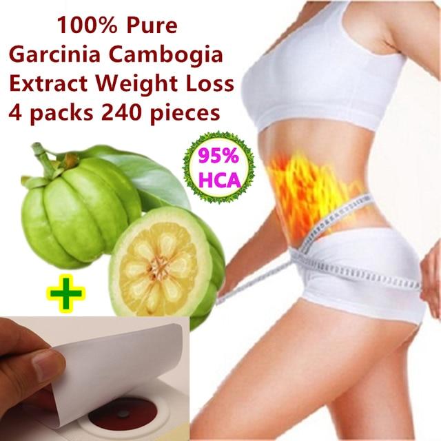4 paquets 240 comprimé pur garcinia cambodgia extrait perte de poids efficace brûler la graisse 95% HCA pour les femmes et les hommes 100% minceur efficace