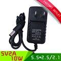1 шт. 5 В США plug power supply 5 В 2A AC-DC 100-240 В переключатель адаптер питания