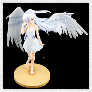 Image 3 - 1/8 Scale Anime Angel Beats Action Figure Tenshi Tachibana Kanade Angles Wings White Dress Ver Can Be Off PVC Sexy Doll 20cm