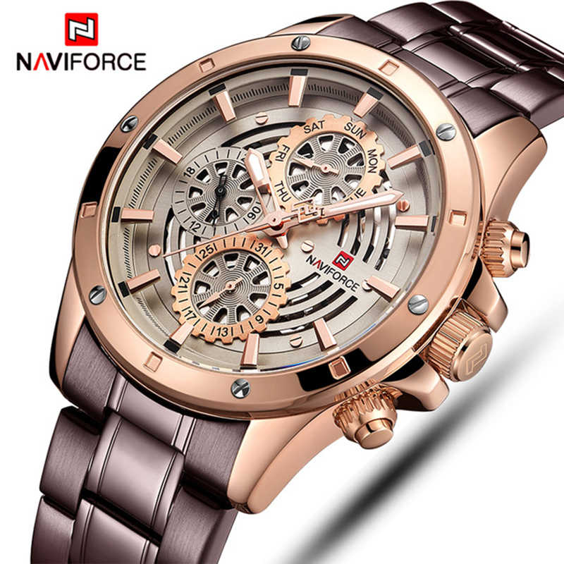 NAVIFORCE Mens Sports Watches Top Luxury Brand Men Fashion Casual Quartz 24 Hours Date Wrist Watch Man Military Waterproof Clock