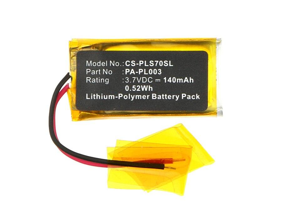 Cameron Sino 140 mAh batterie PA-PL003 pour Plantronics AWH75N, CS70, CS70N, CS70-N, Savi 730, Voyager Pro, W730, WH210Cameron Sino 140 mAh batterie PA-PL003 pour Plantronics AWH75N, CS70, CS70N, CS70-N, Savi 730, Voyager Pro, W730, WH210