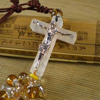 Cross car pendant Christian jewelry glass crystal car jewelry alloy glass car pendant christian products