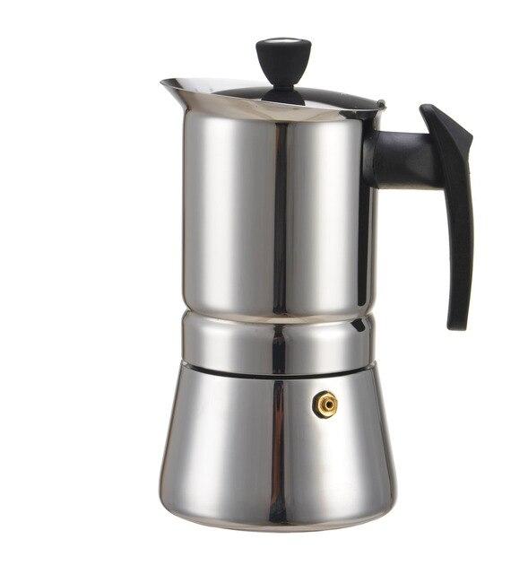 2017 New 300 Ml 6 Cup Stainless Steel Moka Stovetop Espresso Coffee Maker Latte Percolator