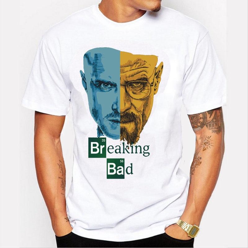 Promoción Breaking Bad Men Camisetas Retro Camiseta Tv Mr White - Ropa de hombre