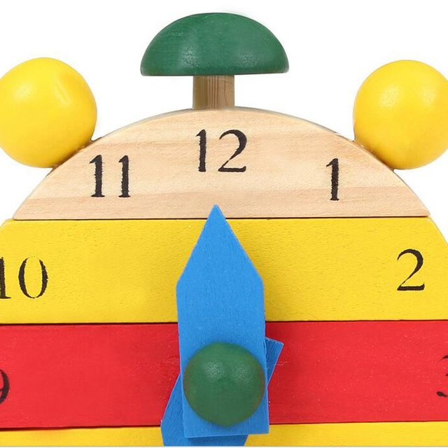 DIY Hand Made Wooden Clock Toys Learning Time Clock Educational Math Number Novelty Interesting Toys For Children Birthday Gifts