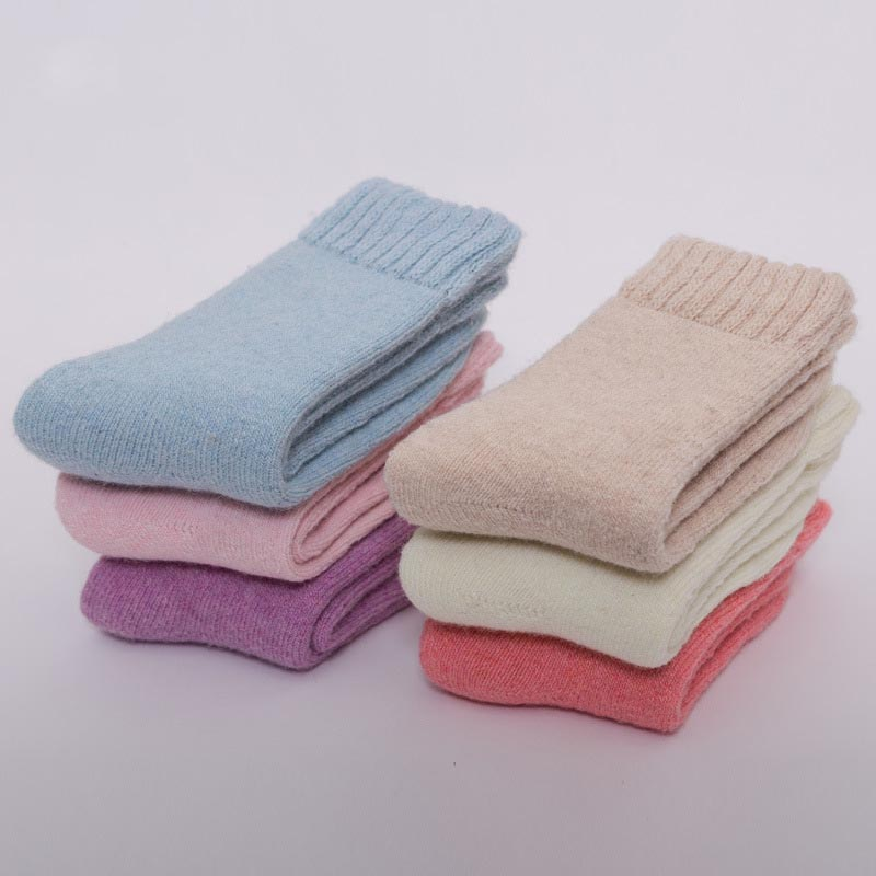 Cashmere wool thick warm   socks   for women female new fashion winter wool knitted ankle comfortable leisure Christmas   Sock