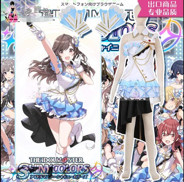 Game THE IDOLM STER ShinyColors Yukoku Kiriko Tsukioka Kogane Cosplay Costume Custom Made Dress