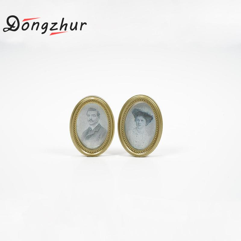 Dongzhur Dropshipping Mini Photo Frame Image Wooden Doll House Picture Wall Painting 1:12 Dollhouse Miniatures Furniture Toy