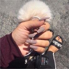 24 шт накладные ногти полностью обработанные искусственные художественные украшения косметический инструмент для ногтей чистый цвет заостренные накладные ногти с клеем, стикер