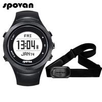 Spovan GL006 спортивные цифровые часы gps навигации монитор сердечного ритма + Bluetooth 4,0 нагрудный 3D Фитнес Для мужчин Для женщин наручные часы