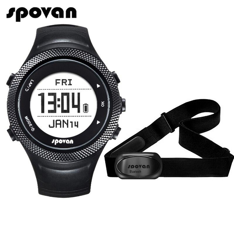 Spovan GL006 Sport Numérique Montre GPS Navigation Moniteur de Fréquence Cardiaque + Bluetooth 4.0 Sangle De Poitrine 3D Fitness Hommes Femmes Montre-Bracelet