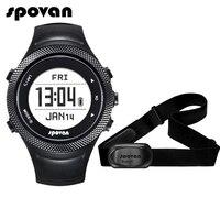 Spovan GL006 Sports Digital Watch GPS Navigation Heart Rate Monitor + Bluetooth 4.0 Chest Strap 3D Fitness Men Women Wristwatch